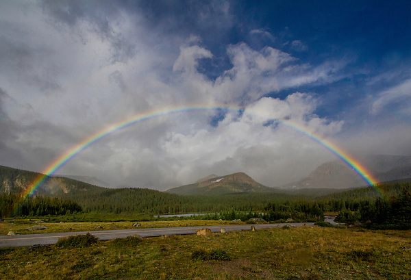 Boulder photo tours. <br /> A very rare full rainbow at sunrise. Here's where knowing exactly where to go is a big help. Colorado tours by Outside Imagery.