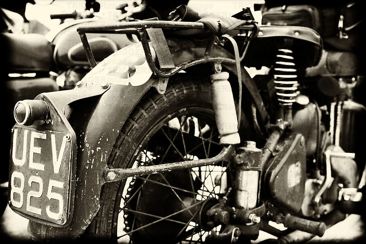 Old dirty British Arial motorbike