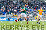 Jordan Brick Kerry scores a goal against Darragh Kelly Meath during the Allianz Hurling League Division 2A Round 5 match between Kerry and Meath at Fitzgerald Stadium in Killarney, on Sunday.