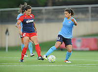 Boyds, MD - Saturday June 25, 2016: Katie Stengel, Raquel Rodriguez during a United States National Women's Soccer League (NWSL) match between the Washington Spirit and Sky Blue FC at Maureen Hendricks Field, Maryland SoccerPlex.