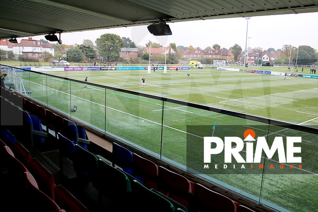 A view from Ealing Trailfinders RFC's main stand upper tier during the Greene King IPA Championship match between Ealing Trailfinders and Bedford Blues at Castle Bar , West Ealing , England  on 29 October 2016. Photo by Carlton Myrie / PRiME Media