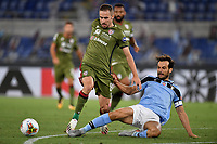 Marko Rog of Cagliari and Marco Parolo of SS Lazio compete for the ball during the Serie A football match between SS Lazio and Cagliari Calcio at Olimpico stadium in Rome ( Italy ), July 23th, 2020. Play resumes behind closed doors following the outbreak of the coronavirus disease. Photo Andrea Staccioli / Insidefoto