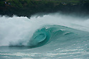Empty wave at Waimea Bay on the Northshore of Oahu in Hawaii.