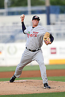 May 10, 2010 Pitcher Kyle Gibson of the Fort Myers Miracle, Florida State League Class-A affiliate of the Minnesota Twins, delivers a pitch during a game at George M. Steinbrenner Field in Tampa, FL. Photo by: Mark LoMoglio/Four Seam Images