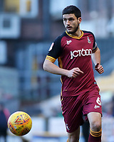 Bradford City's Anthony O'Connor in action<br /> <br /> Photographer David Shipman/CameraSport<br /> <br /> The EFL Sky Bet League One - Bradford City v Fleetwood Town - Saturday 9th February 2019 - Valley Parade - Bradford<br /> <br /> World Copyright &copy; 2019 CameraSport. All rights reserved. 43 Linden Ave. Countesthorpe. Leicester. England. LE8 5PG - Tel: +44 (0) 116 277 4147 - admin@camerasport.com - www.camerasport.com