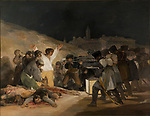 Francisco Goya, The Third of May 1808, painted in 1814, oil on canvas. From Prado Thin Black Margin.
