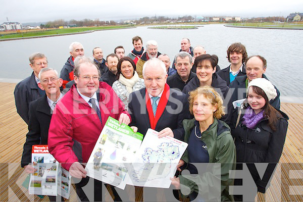 Pictured launching a new Irish Ramsar wetlands poster at the Tralee Bay Wetlands Centre on Saturday, John Griffin (Tourism Development Officer for Kerry local authorities), Minister Jimmy Deenihan and Karin Dubsky (National and International Co-ordinator for Coastwatch Europe)