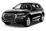 2017 Audi Q5 Sport 5 Door SUV Angular Front stock photos of front three quarter view