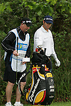 Bradley Dredge decides to take a drop from the ditch on the 3rd hole during the final round of the Irish Open on 20th of May 2007 at the Adare Manor Hotel & Golf Resort, Co. Limerick, Ireland. (Photo by Eoin Clarke/NEWSFILE)