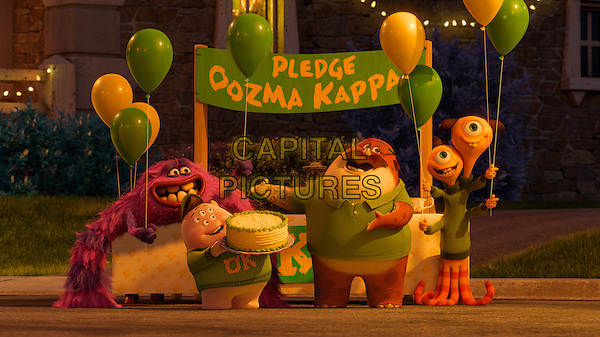 ART (voice of Charlie Day), SCOTT ?SQUISHY? SQUIBBLES (voice of Peter Sohn), DON CARLTON (voice of Joel Murray) TERRI (voice of Sean Hayes) &amp; TERRY PERRY (voice of Dave Foley)<br /> in Monsters University (2013) <br /> *Filmstill - Editorial Use Only*<br /> CAP/FB<br /> Image supplied by Capital Pictures