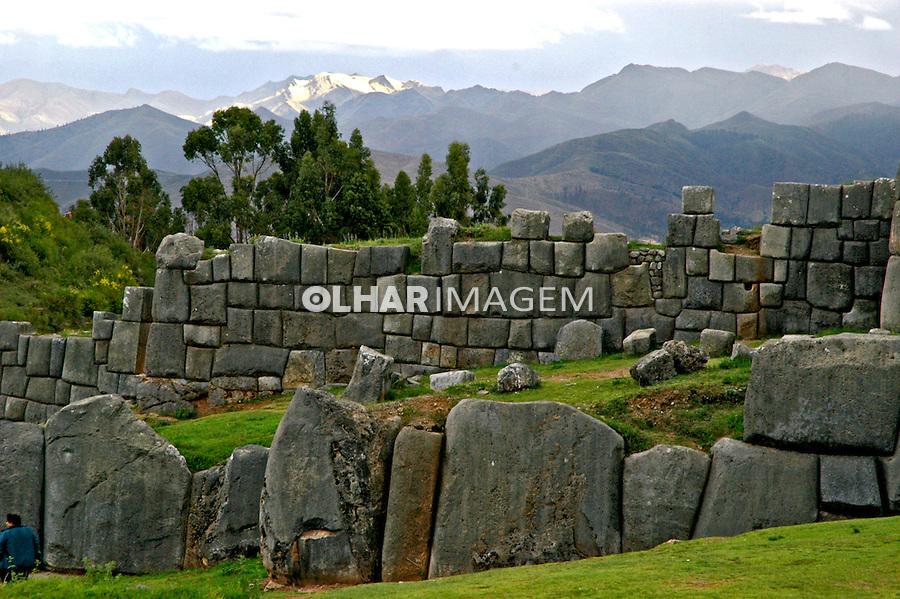 Ruínas da fortaleza de Sacsayhuaman. Cusco. Peru. 2006. Foto de Flávio Bacellar.