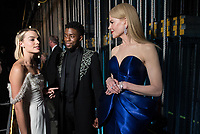 Margot Robbie, Chadwick Boseman and Nicole Kidman backstage during the live ABC Telecast of The 90th Oscars&reg; at the Dolby&reg; Theatre in Hollywood, CA on Sunday, March 4, 2018.<br /> *Editorial Use Only*<br /> CAP/PLF/AMPAS<br /> Supplied by Capital Pictures