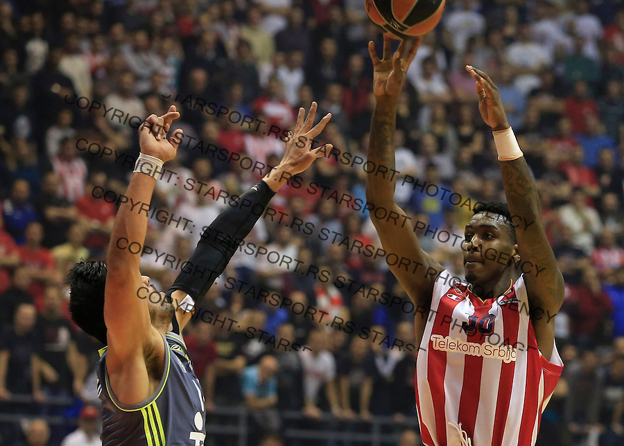 Kosarka Euroleague season 2015-2016<br /> Euroleague <br /> Crvena Zvezda v Real Madrid<br /> Quincy Miller and Gustavo Ayon (L)<br /> Beograd, 27.11.2015.<br /> foto: Srdjan Stevanovic/Starsportphoto &copy;