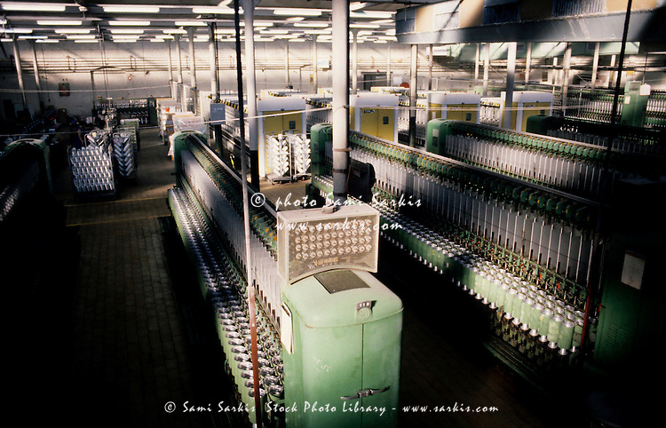Interior of a textile factory, France.
