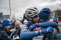 victory shared post-race by Niki Terpstra (NED/Quick-Step Floors)<br /> <br /> 61th E3 Harelbeke (1.UWT)<br /> Harelbeke - Harelbeke (206km)