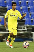 Villarreal's Mukwelle Akale during the XXXVII trophy of Legane's City between CD Leganes and Villarreal CF at Butarque Stadium. August 13, 2016. (ALTERPHOTOS/Rodrigo Jimenez) /NORTEPHOTO