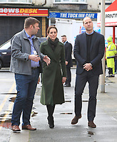 Prince William Duke Of Cambridge and Kate Duchess of Cambridge Visit Kirby Roa