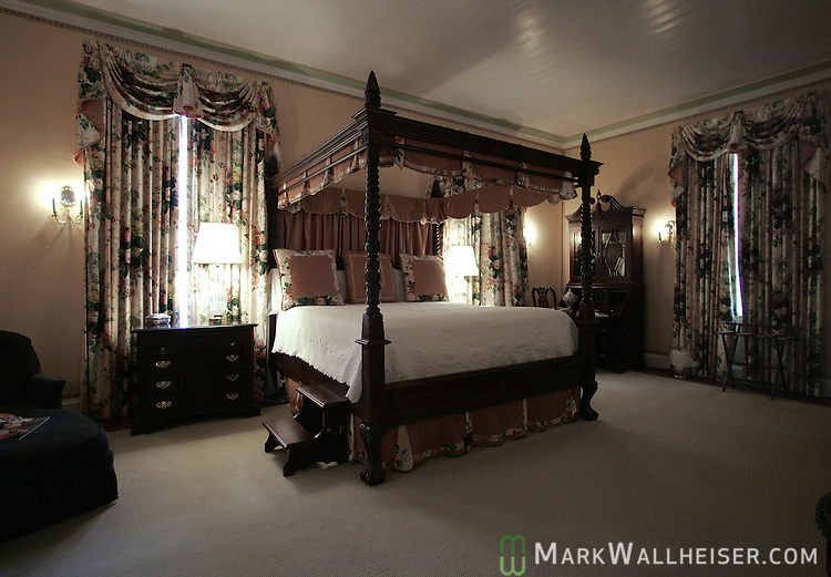 One of the bedrooms at Melhana Plantation in Thomasville, Ga north of Tallahassee, Florida.