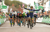 8th September 2017, Newmarket, England; OVO Energy Tour of Britain Cycling; Stage 6, Newmarket to Aldeburgh; EWAN Caleb of Orica-Scott wins Stage 6 of The Tour of Britain Cycle race