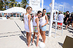 MIAMI BEACH, FL - FEBRUARY 20: Hannah Ferguson,Lauren Mellor and Sara Sampaio participates in Sports Illustrated Swimsuit 2014 Beach Volleyball:Models & Celebrity Chefs on February 20, 2014 in Miami Beach, Florida. (Photo by Johnny Louis/jlnphotography.com)