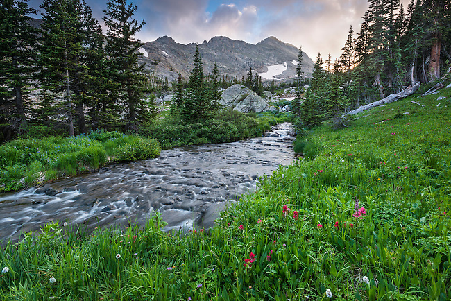 summer day in Rocky Mountain National Park, Colorado, USA