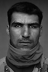 Pvt. Dhurgam Ibrahim Abbas, 25, Babil, Laborer, 4th Co., 2nd Battalion, 7th Division of the Iraqi Army in Haditha, Iraq on Mon. Nov. 28, 2005.
