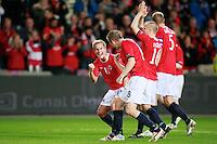 Oslo, 20100907. Norge-Portugal. Morten Gamst Pedersen etter kampen.