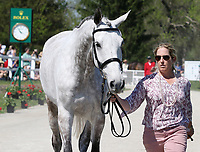 LEXINGTON, KY - April 26, 2017. #48 Cooley ON SHow and SHaron White from the USA at the Rolex Three Day Event First Horse Inspection at the Kentucky Horse Park.  Lexington, Kentucky. (Photo by Candice Chavez/Eclipse Sportswire/Getty Images)