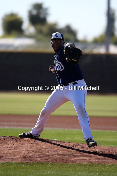 Austin Smith - San Diego Padres 2016 spring training (Bill Mitchell)