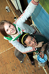 Destini and Dara from Buíon Setanta Scout Group painting a mural at the Scout Hall as part of the Dulux Let's Colour Project...(Photo credit should read Jenny Matthews www.newsfile.ie)....This Picture has been sent you under the conditions enclosed by:.Newsfile Ltd..The Studio,.Millmount Abbey,.Drogheda,.Co Meath..Ireland..Tel: +353(0)41-9871240.Fax: +353(0)41-9871260.GSM: +353(0)86-2500958.email: pictures@newsfile.ie.www.newsfile.ie.