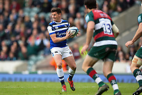 Freddie Burns of Bath Rugby in possession. Gallagher Premiership match, between Leicester Tigers and Bath Rugby on May 18, 2019 at Welford Road in Leicester, England. Photo by: Patrick Khachfe / Onside Images