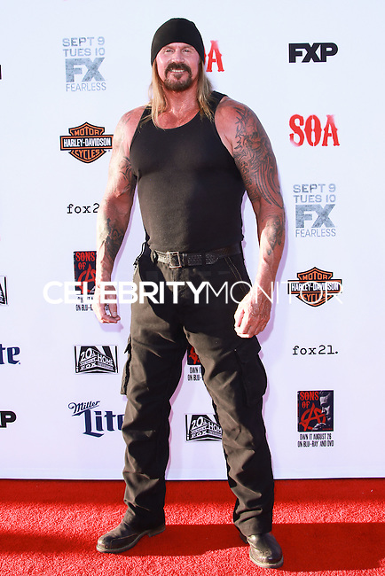 HOLLYWOOD, LOS ANGELES, CA, USA - SEPTEMBER 06: Rusty Coones arrives at the Los Angeles Premiere Of FX's 'Sons Of Anarchy' Season 7 held at the TCL Chinese Theatre on September 6, 2014 in Hollywood, Los Angeles, California, United States. (Photo by David Acosta/Celebrity Monitor)