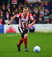 Lincoln City's Terry Hawkridge<br /> <br /> Photographer Andrew Vaughan/CameraSport<br /> <br /> Buildbase FA Trophy Semi Final Second Leg - Lincoln City v York City - Saturday 18th March 2017 - Sincil Bank - Lincoln<br />  <br /> World Copyright &copy; 2017 CameraSport. All rights reserved. 43 Linden Ave. Countesthorpe. Leicester. England. LE8 5PG - Tel: +44 (0) 116 277 4147 - admin@camerasport.com - www.camerasport.com