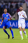 Waleed Mohamed Alhayam of Bahrain (R) and Muhammed Ashique Kuruniyan of India (L) react during the AFC Asian Cup UAE 2019 Group A match between India (IND) and Bahrain (BHR) at Sharjah Stadium on 14 January 2019 in Sharjah, United Arab Emirates. Photo by Marcio Rodrigo Machado / Power Sport Images