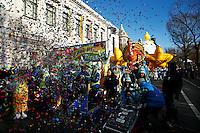 USA, New York, Nov 28, 2013. Revellers kicks off the 87th Macy's Thanksgiving Day Parade in New York City. Photo by VIEWpress/Eduardo Munoz Alvarez
