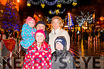 L-R Orla Flynn, Margaret Butler, Eamer O'Connor, Norma O'Connor Flynn and Sean Butler at the Christmas in Killarney Children's Magic Parade last Saturday.