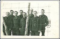 BNPS.co.uk (01202 558833)<br /> Pic: Timezone/BNPS<br /> <br /> ***Please use full byline***<br /> <br /> Gerald Imeson 4th from left at Stalag Luft III POW camp.<br /> <br /> A Rolex watch worn by a British prisoner of war during the infamous 'Great Escape' attempt is tipped to sell for &pound;30,000.<br /> <br /> Despite being held in the Stalag Luft III camp in Germany, Flight Lieutenant Gerald Imeson was still able to order and take delivery of a brand new watch in 1942.<br /> <br /> The famous Swiss watchmaker had offered all British officers one of their timepieces to replace the ones seized by the Germans and they could be paid for after the war.<br /> <br /> F/Lt Imeson helped dig the three tunnels for the audacious escape attempt of 1944.