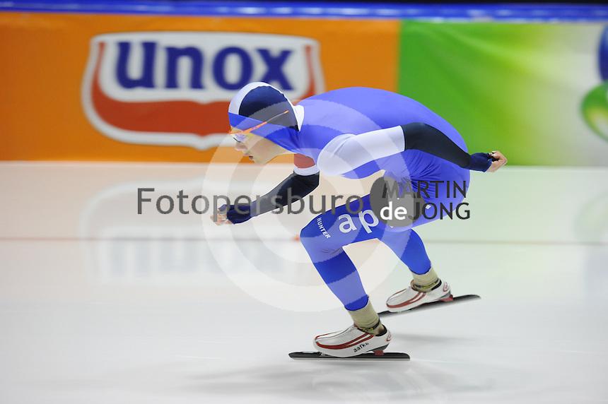 SCHAATSEN: HEERENVEEN: 25-10-2014, IJsstadion Thialf, Trainingswedstrijd schaatsen, Aafke Soet, ©foto Martin de Jong