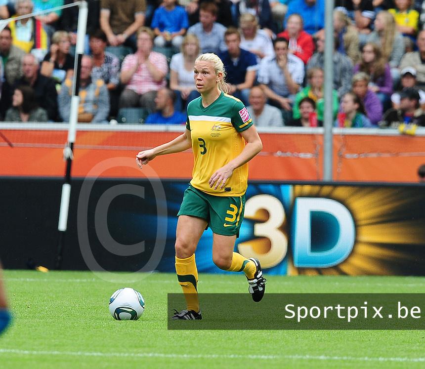 Fifa Women's World Cup Germany 2011 : Brazil - Australia  at Borussia - Park in Munchengladbach : Kim Carroll.foto DAVID CATRY / Vrouwenteam.be