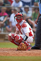 Illinois State Redbirds catcher Danny Jackson (39) during a game against the Michigan State Spartans on March 8, 2016 at North Charlotte Regional Park in Port Charlotte, Florida.  Michigan State defeated Illinois State 15-0.  (Mike Janes/Four Seam Images)
