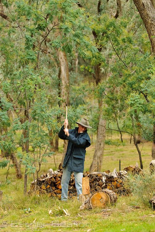 Wayne Stokes, on his hobby farm and covenanted land 'Marway', near Tumbarumba, New South Wales