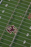 football practice aerial view, Boston College, Boston, MA