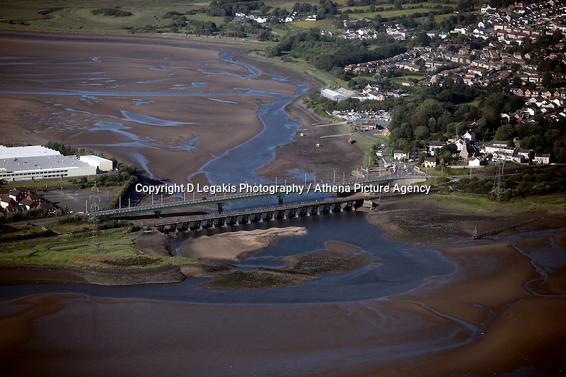 A bridge over Loughor Estuary near Gorseinon, west Wales.<br /> Re: Aerial view of Wales. Sunday 14 June 2009<br /> Picture by D Legakis Photography / Athena Picture Agency, 24 Belgrave Court, Swansea, SA1 4PY, 07815441513