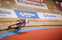 Robbe Ghys' (BEL/SportVlaanderen-Baloise) sprint lap<br /> <br /> Lotto 6daagse Vlaanderen-Gent 2018 / Gent6<br /> day 5