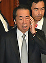 October 28, 2011, Tokyo, Japan - Japan's former Prime Minister Naoto Kan arrives for a Diet's lowr hosue plenary session in Tokyo on Friday, October 28, 2011. (Photo by Natsuki Sakai/AFLO) [3615] -mis-