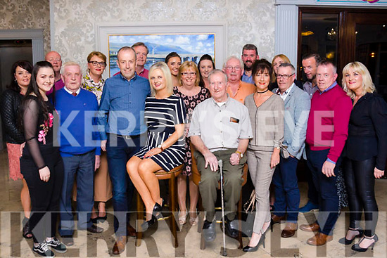 Birthday girl Caroline Foley (seated front) with family and friends celebrating in the Rose Hotel.