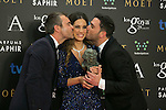 attend the 2015 Goya Award Winners Photocall at Auditorium Hotel, Madrid,  Spain. February 08, 2015.(ALTERPHOTOS/)Carlos Dafonte)