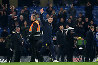 Ex Chelsea player and current Aston Villa Assistant Head Coach, John Terry, waves to the Chelsea fans as he walks to the dressing room after the match during Chelsea vs Aston Villa, Premier League Football at Stamford Bridge on 4th December 2019
