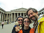 Bradley Quentin with wife Kimberly Boyce-Quentin and daughter enjoy the British Museum.