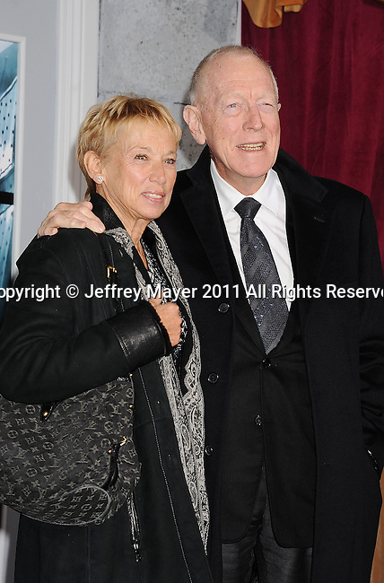 WESTWOOD, CA - DECEMBER 06: Max von Sydow attends the Los Angeles premiere of 'Sherlock Holmes: A Game Of Shadows' at Regency Village Theatre on December 6, 2011 in Westwood, California.
